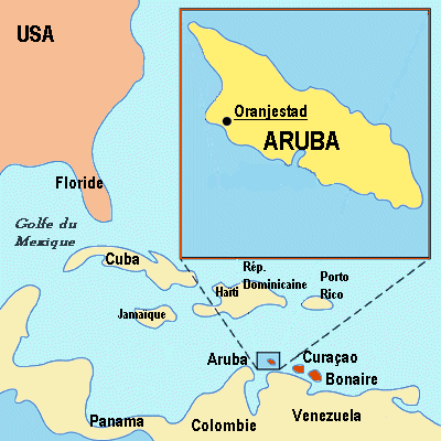 THE ABC ISLANDS - Caribbean map aruba